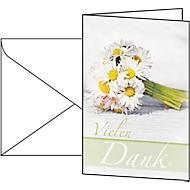 Cartes de vœux «remerciements», enveloppes blanches incluses, 10 pièces