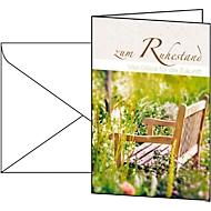 Cartes de vœux «retraite», enveloppes blanches incluses, 10 pièces