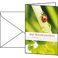 Cartes de vœux , universelles, enveloppes blanches incluses, 10 pièces