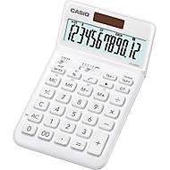 Casio Tischrechner JW-200 SC, 12-stelliges BIG LC-Display, Solar-/Batteriebetrieb, weiß