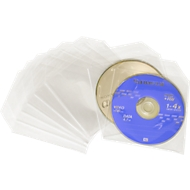 CD/DVD-Folientaschen, transparent, für den Versand geeignet
