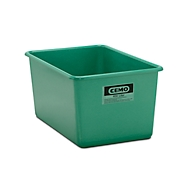 CEMO rechthoekige standaard bak, groen, 400 l