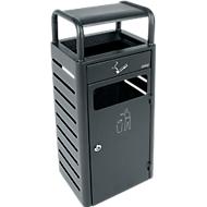 Cendrier/collecteur combinés pour l'intérieur et l'extérieur, 880 x 330 x 280 mm