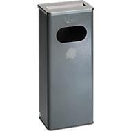 Cendrier/poubelle, 32 l, argent antique