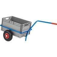 Charette manuelle chariot à main en tube d'acier, av. revêtement plastique, résist. aux rayures, cap. de charge 200 kg