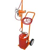 Chariot à bouteille de gaz avec guide-tuyau flexible
