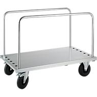Chariot galvanisé à ridelles. 1250 x 700 x 945 mm
