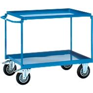 Chariot métallique 4820 à 2 plateaux, capacité 400 kg