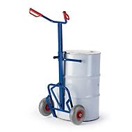 Chariot pour fûts 1600 x 700 mm, roues caoutchouc