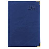Chefkalender Sidney, Metallecken in Einzelkarton, 416 Seiten, B 150 x H 210 mm, Werbedruck 100 x 80 mm, blau