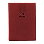 Chefkalender Tucson, 416 Seiten, B 150 x T 25 x H 210 mm, Werbedruck 100 x 80 mm, rot