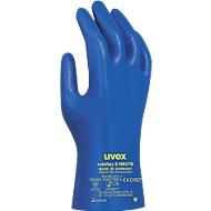 Chemikalienschutzhandschuhe uvex rubiflex S NB27B, trikotiert, NBR-beschichtet, EN 374/Typ A, ergonomisch, 10 Paar, Gr.10