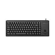Cherry Compact-Keyboard G84-4400, mit Trackball, 2 Maustasten, Kabellänge 1,75 m, schwarz