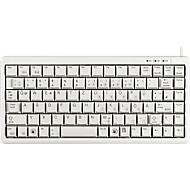 Cherry Kompakttastatur G84-4100, ultraflach, USB-Anschluss, für Slim Line PCs, hellgrau