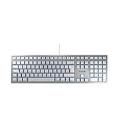 Cherry Tastatur KC 6000 Slim for MAC, QWERTZ, 12 Extrafunktionen für MAC-User, für alle Geräte mit USB-A & MAC OSX, silbern