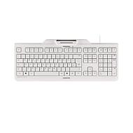 Chipkarten-Tastatur CHERRY KC 1000 SC-Z mit PIN-Eingabe, Kartenleser, USB-Anschluss, weißgrau