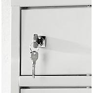 Cilinderslot, met 2 sleutels