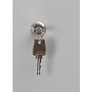 Cilinderslot voor kluisje, L 90 x B 70 mm, Incl. 2 sleutels, staal