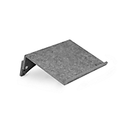Cirkelvormige documenthouder Bakker Elkhuizen FlexDoc, 60% gerecycled materiaal, B 385 x D 260 x H 80 mm, lichtgrijs