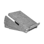 Cirkelvormige laptopstandaard Bakker Elkhuizen Ergo-Top 320, 60% gerecycled materiaal, B 215 x H 140 x D 350, lichtgrijs