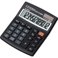 Citizen zakrekenmachine SDC 812BN semi, 12-cijferige LCD-weergave, batterij en zonne-energie