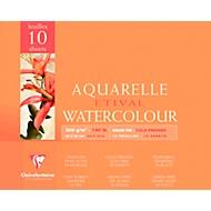Clairefontaine Aquarellblöcke ETIVAL, fein, 10 Blatt, 24 x 30 cm