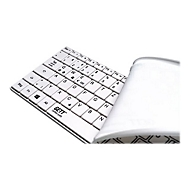 CleanType Wave Classic TKG-100-GCQ-AM-BT-IP65-WHITE-USB-DE - Tastatur - Deutsch - weiß