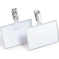 CLICK FOLD naambordjes met clip, 54 x 90 mm, 25 stuks