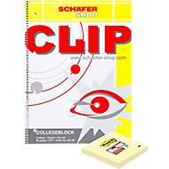 CLIP-Collegeblock, DIN A4, 80 Blatt kariert, plus gratis Post-it Super Sticky Notes