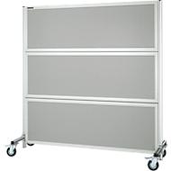 Cloison à protection acoustique, mobile, gris clair RAL 7035