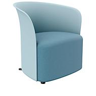 Clubsessel Paperflow CROWN, Schaumpolsterung, mit Füßen, Sitzhöhe 380 mm, B 730 x T 635 x H 690 mm, Polypropylen & Hartfaserplatte, Polsterbezug blau