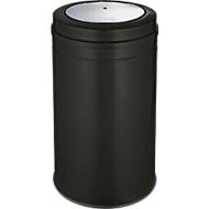 Collecteur de déchets avec couvercle basculant, noir