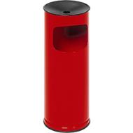 Combi-asbak, H 610 mm, rood
