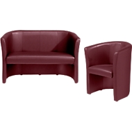 Complete aanbieding Club fauteuil + tweezit, chilirood