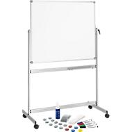 Complete aanbieding: MAUL whiteboard Maulpro, verrijdbaar, draaibaar, dubbel geëmailleerd werkoppervlak, + gratis startset, 1000 x 1200 mm