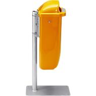 Complete aanbieding prullenbak/standaard, oranje