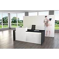Comptoir blanc/anthracite, l 2000 x P 1000 x H1100 mm