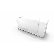 Comptoir Spezia, droit, l. 2460 x P 880 x H 1130 mm, blanc/blanc