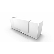 Comptoir Spezia, droit, l. 2660 x P 880 x H 1130 mm, blanc/blanc