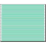 Computer-kettingpapier, 1-voudig groen gelinieerd, 2000 stuks