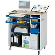Computer-Station adlatus Typ 6001, B 1030 x T 660 x H 1100 mm, fahrbar