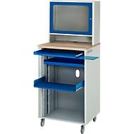 Computerstation adlatus type 2015, B 720 x D 660 x H 1810 mm, verrijdbaar