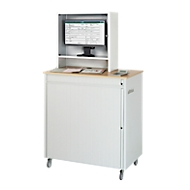 Computerstation type 6018, B 1030 x D 660 x H 1810 mm, verrijdbaar