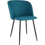 Conferentiestoel, set van 2, B 570 x D 540 x H 810 mm, gestoffeerd, zwart frame, blauwe stoffen bekleding