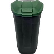container met wielen, antraciet, Deksel groen