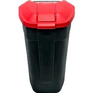 Container mit Rädern, anthrazit, Deckel rot