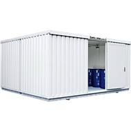 Container voor gevaarlijke stoffen SAFE Tank 2000, geïsoleerd, RAL 9002 grijswit, B 3050 x D 4340 x H 2520 mm