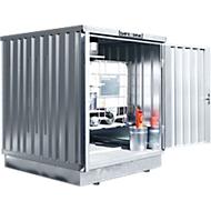 Container voor gevaarlijke stoffen SAFE Tank 400 KTC, gegalvaniseerd, B 2100 x D 2170 x H 2400 mm, tot 1 x 1000 l IBC