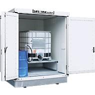 Container voor gevaarlijke stoffen SAFE Tank 400 KTC, geïsoleerd, RAL 9002 grijswit, B 2100 x D 2170 x H 2650 mm