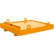 Containerbak CW 1, staal, voor afzetcontainer tot 10 m³, neigingshoek 5°, 2300 x 2030 x 560, RAL2000